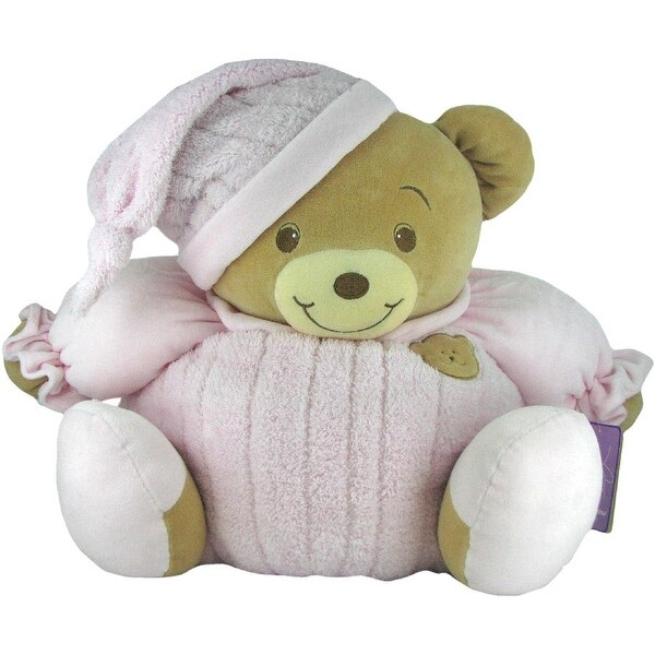 Baby Bow Huge Goodnight Stuffed Teddy Bear in Pink