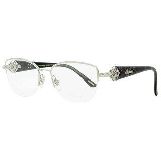 Chopard VCHA93S 0579 Womens Shiny Palladium/Gray 53 mm Eyeglasses - Shiny Palladium/Gray