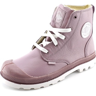 Palladium Pampa Hi Round Toe Leather Sneakers