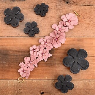 Sizzix Movers & Shapers Magnetic Die Set By Jill Mackay (R)-Leather Carnation Stack