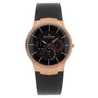 Skagen Men's Titanium 809XLTRB Brown Dial Watch