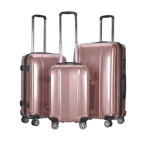 GLOBALWAY 3 Pcs 20'' 24'' 28'' Luggage Travel Set ABS+PC Trolley