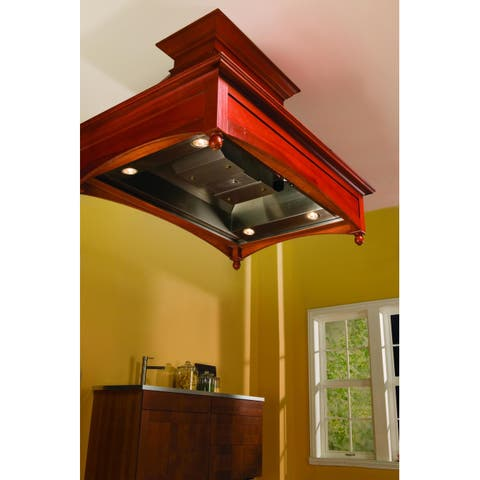 """Vent-A-Hood TH248SLE 550 CFM 48"""" Island Mounted Liner with Dual Blowers Halogen Lights - - Stainless Steel"""