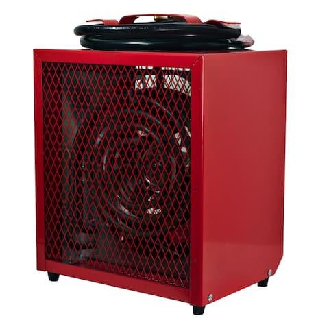 Portable 4800-Watt Fan-Forced Industrial Space Heater in Red