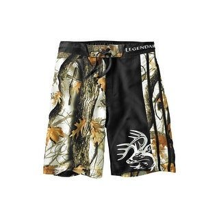 Legendary Whitetails Men's God's Country Camo Lakeside Swim Shorts - god's country camo black