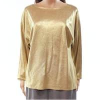 Lauren by Ralph Lauren Gold Women's Size Medium M Pullover Sweater
