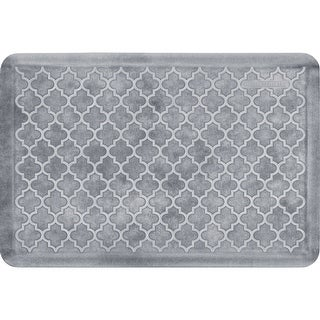 "WellnessMats Estates Trellis Anti-Fatigue Office, Bathroom, & Kitchen Mat, Sea Mist, 36"" by 24"""