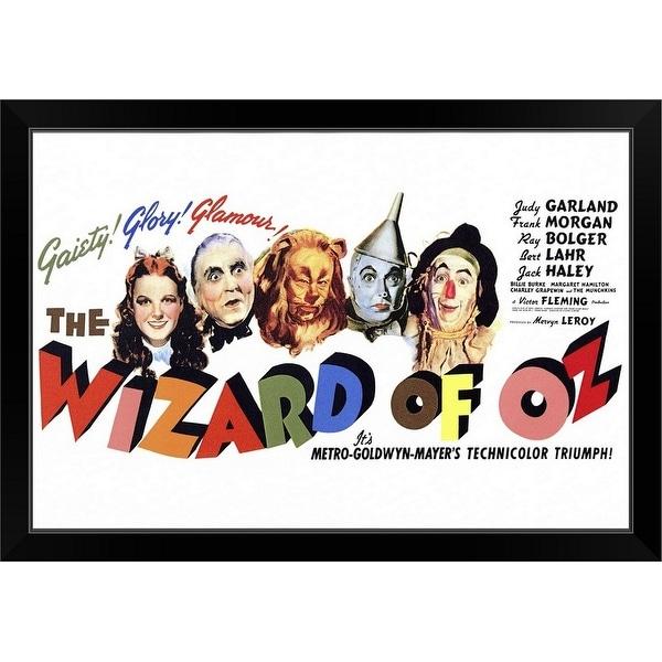 """The Wizard of Oz (1939)"" Black Framed Print"