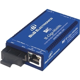 IMC 856-10731 B&B Giga-MiniMc, TX/LX-SM1310-SC - 1 x RJ-45 , 1 x SC Duplex - 10/100/1000Base-T, 1000Base-LX