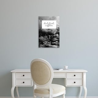 Easy Art Prints 'But First' Premium Canvas Art