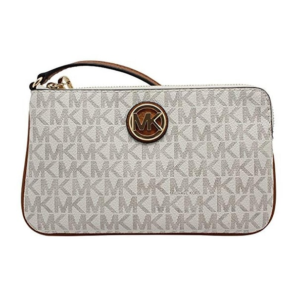 73a02927c489 Shop Michael Kors Fulton Large Wristlet Vanilla/Acrn (35H8SFTW3B) - Free  Shipping Today - Overstock - 27088607