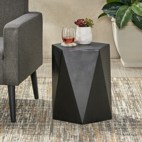 Apollo Outdoor Modern Side Table by Christopher Knight Home