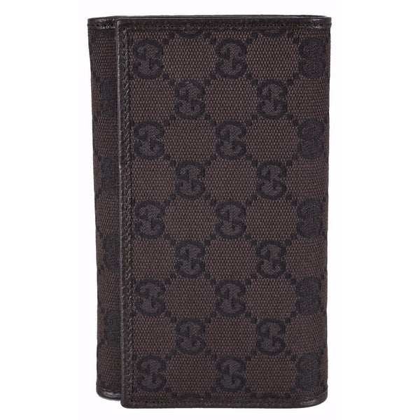 9be1db77c11 Shop Gucci Women s 263114 Brown Canvas GG Guccissima Bifold Wallet W Coin -  Free Shipping Today - Overstock - 12184248