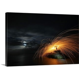 Premium Thick-Wrap Canvas entitled Fire Side of the Moon