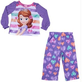 Disney Little Girls Purple Sofia The First Cartoon Print 2 Pc Pajama Set|https://ak1.ostkcdn.com/images/products/is/images/direct/b548b00fc2f645b0f1e4466069a7cd94cf1e0650/Disney-Little-Girls-Purple-Sofia-The-First-Cartoon-Print-2-Pc-Pajama-Set-2-4T.jpg?impolicy=medium