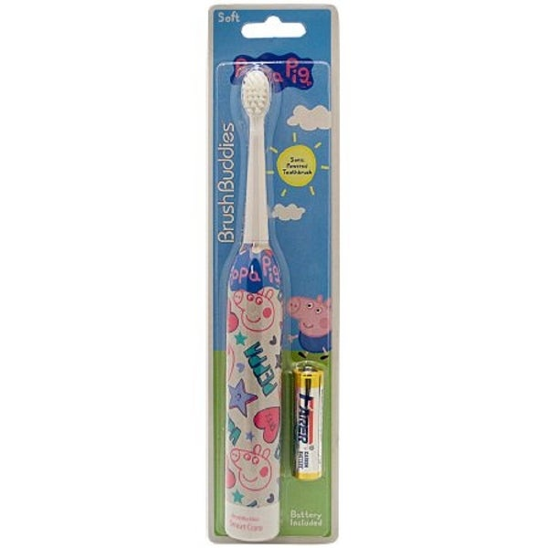 Brush Buddies Peppa Pig Kids Sonic Powered Toothbrush (Battery Included)