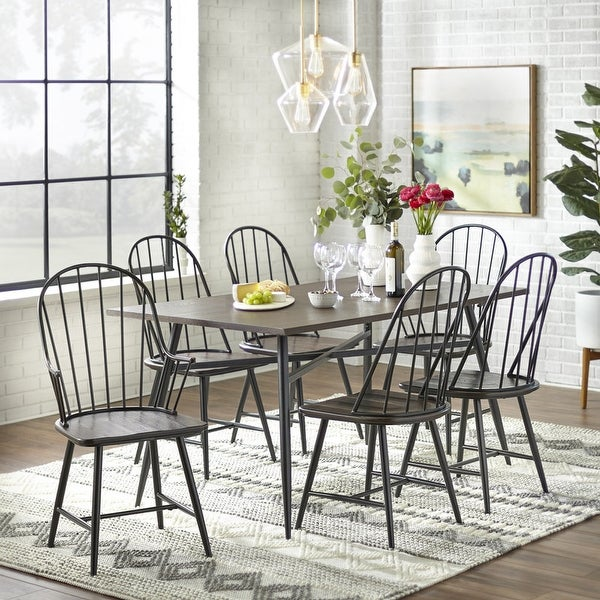Simple Living Milo Mixed Media 7-piece Dining Set. Opens flyout.