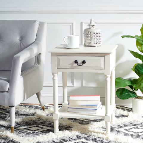 "SAFAVIEH Whitney 1-Drawer Bottom Shelf Accent Table - 19"" W x 15.8"" L x 26"" H"