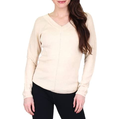 Nic + Zoe Womens Ballet Pullover Top Long Sleeves V-Neck