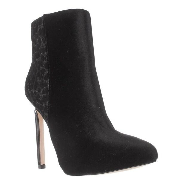 Nine West Ladivina Ankle Booties, Black/Pewter - 5.5 us