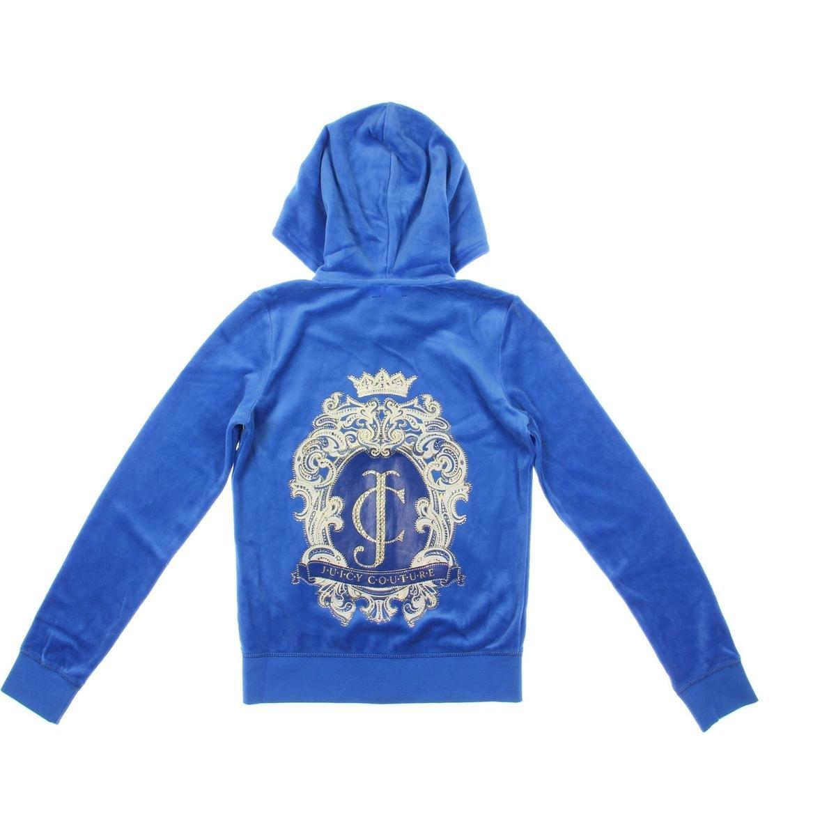 628c2c712 Juicy Couture Black Label Girls Logo Ornate Cameo Jacket Velour - 14