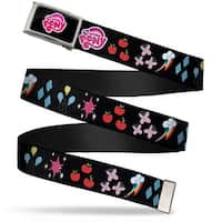 My Little Pony Logo Fcg Black Pink Chrome My Little Pony 6 Cutie Web Belt