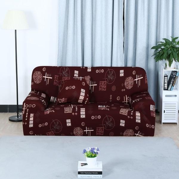 Shop Unique Bargains Elastic Fabric L Shaped Stretch Sofa Covers