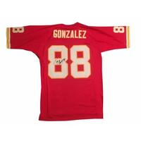 Tony Gonzalez Autographed Kansas City Chiefs Signed Mitchell  Ness Football Jersey JSA COA