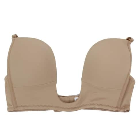 Fullness Sexy V Shape Push Up Deep Plunge Convertible V Bra, Max Cleavage Booster Shaper, Wear Multiple Ways With