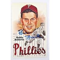 Robin Roberts Philadelphia Phillies Signed 1981 Authentic Perez-Steele Postcard
