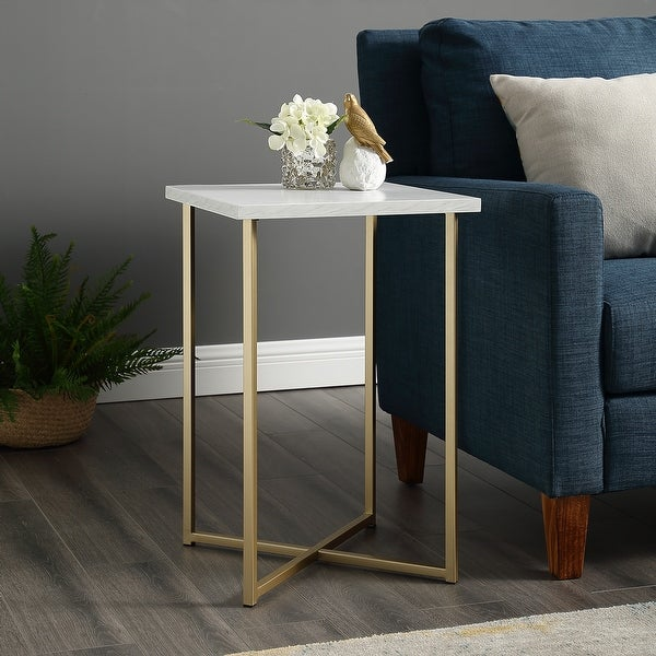 Silver Orchid Ipsen Square Side Table. Opens flyout.
