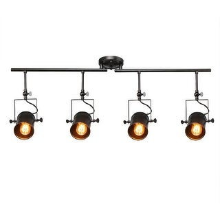 Link to 4 light industrial black track ceiling light Similar Items in Track Lighting