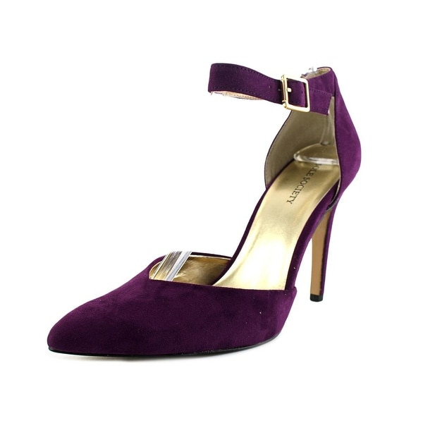 Sole Society Azra Women Pointed Toe Suede Purple Heels