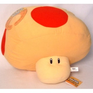 "Super Mario Brothers 15"" Large 1 Up Mushroom Yellow & Red"