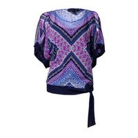 INC International Concepts Women's 2PC Printed Top Set - geometric paisley