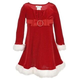 Bonnie Baby Girls 0-9 Months Santa Emma Dress - Red