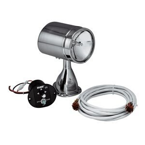 """""""Guest 14968M Guest 22040A Stainless Steel Marine 5-Inch Spotlight/Floodlight Kit with Remote Control Joystick (12-Volt, 7-Amps,"""
