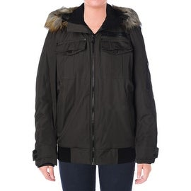 Elie Tahari Womens Coat Faux Fur Insulated