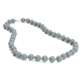 Chewbeads Jane Teething Necklace - Stromy Grey Jane Teething Necklace