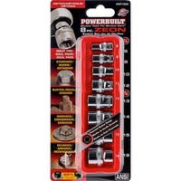 Powerbuilt 8 Piece Metric Zeon Socket Set for Damaged/Strip/Rounded/Rusted Bolts