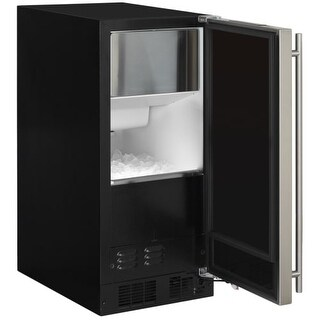 """Marvel ML15CP1R 15"""" Wide 39 lbs. Daily Production Built-In Ice Maker with Illumi"""
