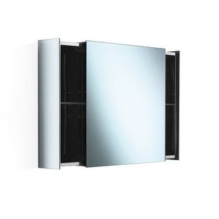 """WS Bath Collections Pika 51513 24"""" Single Sliding Door Mirrored Medicine Cabinet with One Glass Shelf from the Linea Collection"""