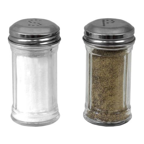 Ribbed Glass 4 oz. Tabletop Salt and Pepper Set (Set of 2), Clear