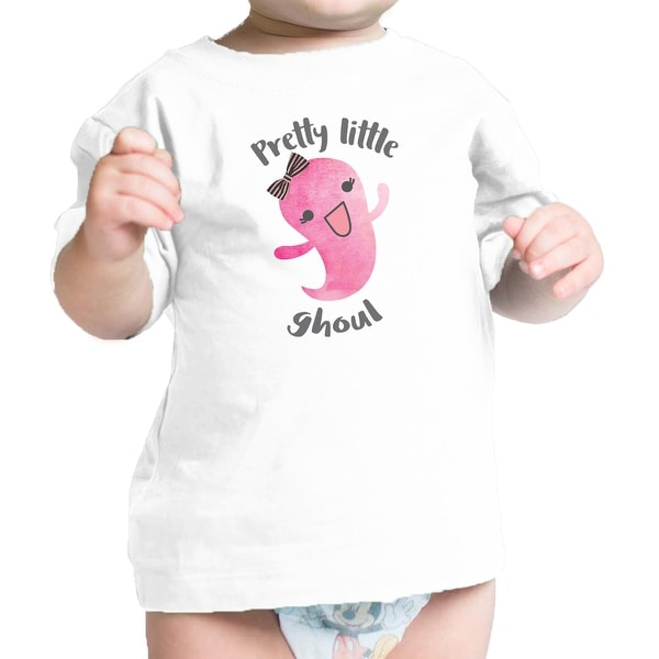 Pretty Little Ghoul Baby Girl Halloween Tshirt White Infant T-Shirt