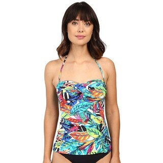 Ralph Lauren Womens Tropical Rainforest Print Tankini Top 4 Multi Swimsuit