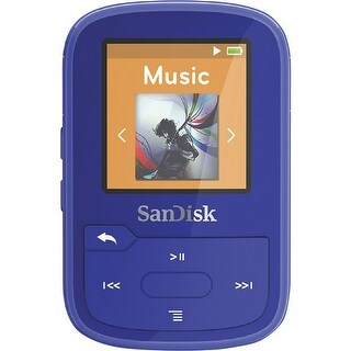 Sandisk Sdmx28-016G-A46b Clip Sport Plus 16Gb Bluetooth Mp3 Player (Blue)