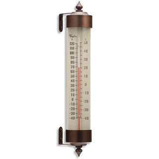 """Taylor 482BZ Long Glass Tube Thermometer, 12.25"""""""