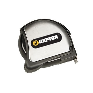 Raptor Tools RAP17006 25' Tape Measure with Stainless Steel Casing and Belt Clip