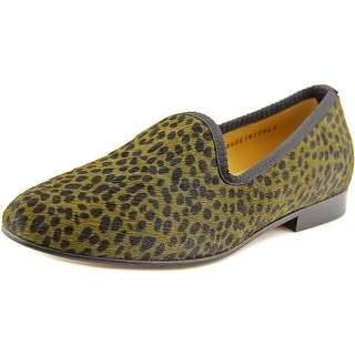 Del Toro Papholl Women Round Toe Suede Green Loafer