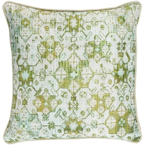 40 Granny Smith Apple Green And White Woven Decorative Throw Pillow Extraordinary Apple Green Decorative Pillows